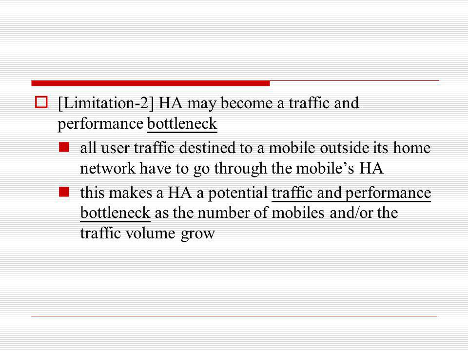 [Limitation-2] HA may become a traffic and performance bottleneck